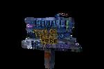 BEWARE Sign PNG STOCK