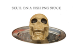 Skull On A Dish PNG STOCK