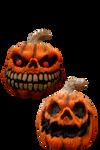 Spooky Pumpkins PNG STOCK
