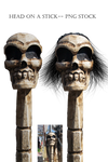Head on a Stick-- PNG STOCK