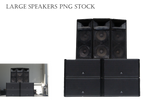 Large Speakers PNG STOCK