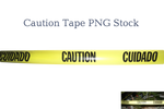 Caution Tape PNG Stock
