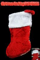 Christmas Stocking PNG STOCK by KarahRobinson-Art