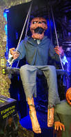 Scary Swinging Pumpkin STOCK