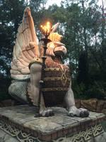 Fire Dragon Statue STOCK by KarahRobinson-Art