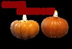 Pumpkin Candles Png Stock by KarahRobinson-Art