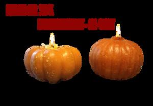 Pumpkin Candles Png Stock