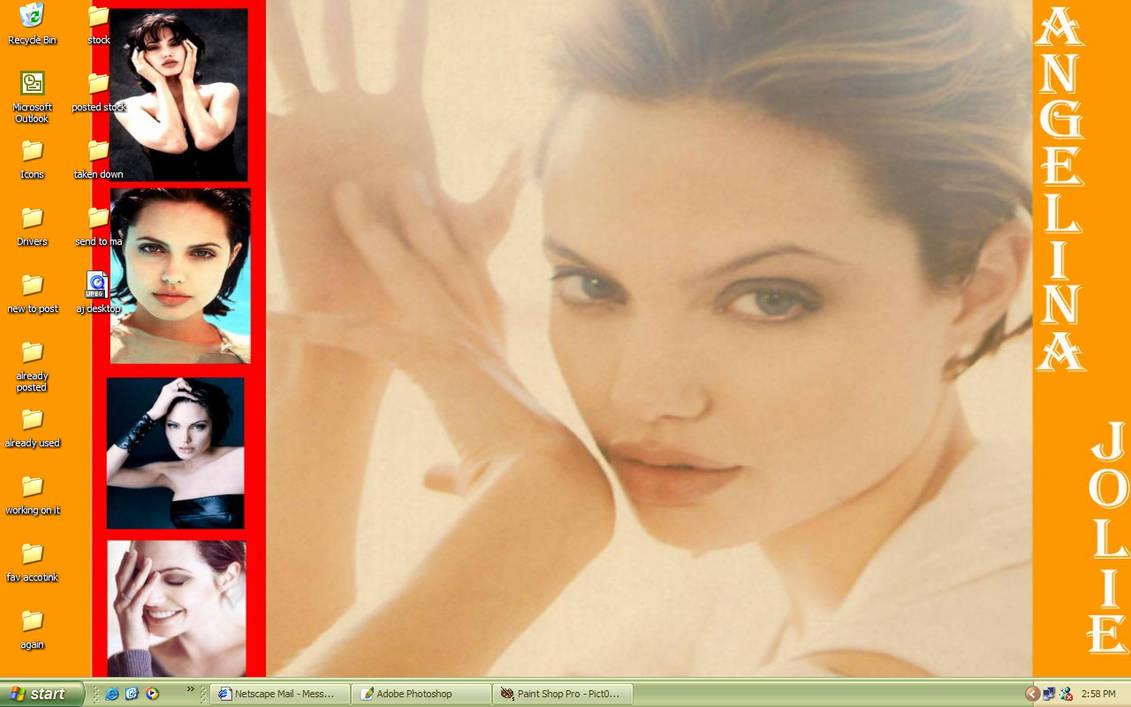 my Angelina Jolie setup