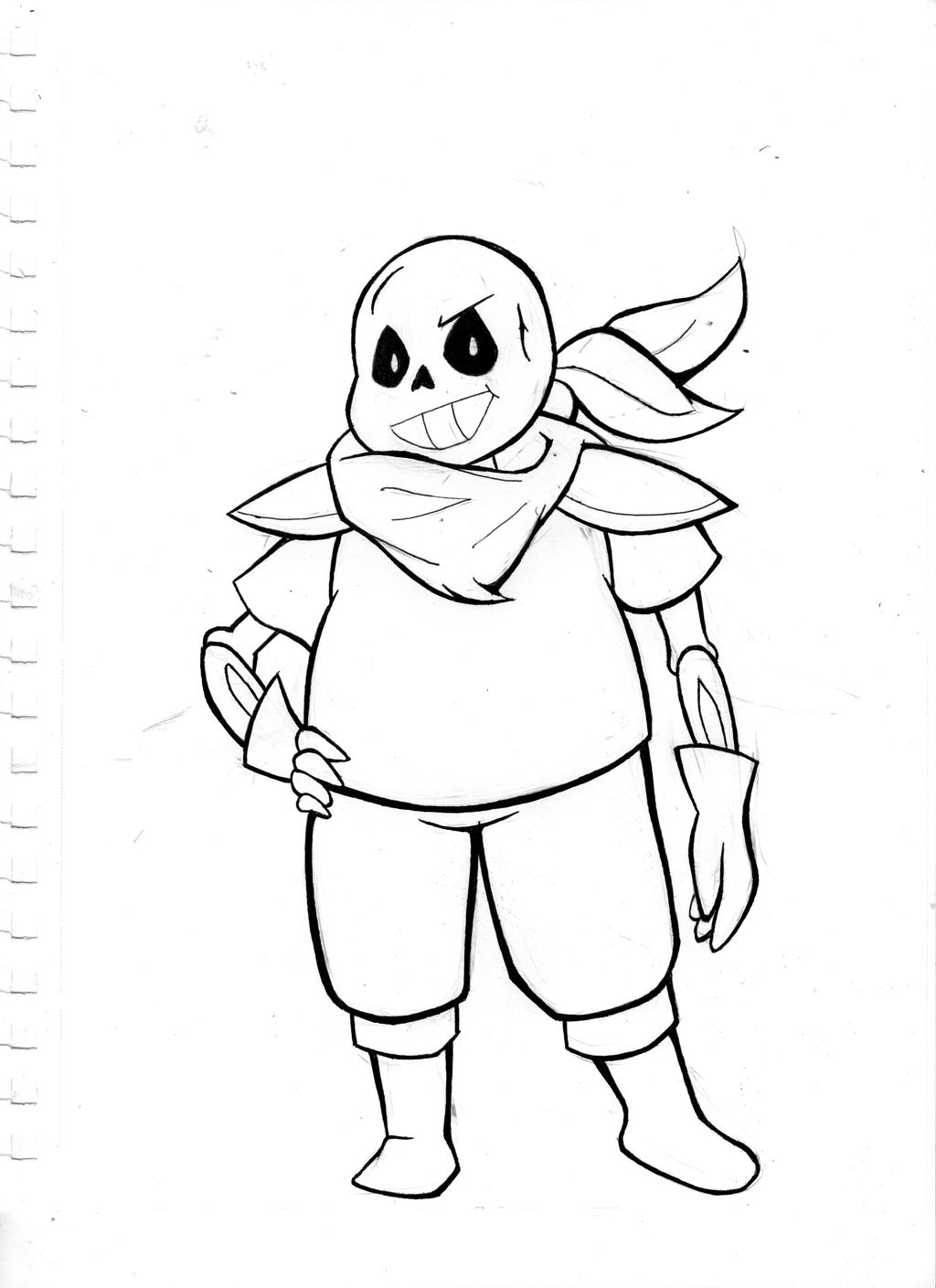 Underswap sans practice by asmallone on deviantart for Sans coloring page