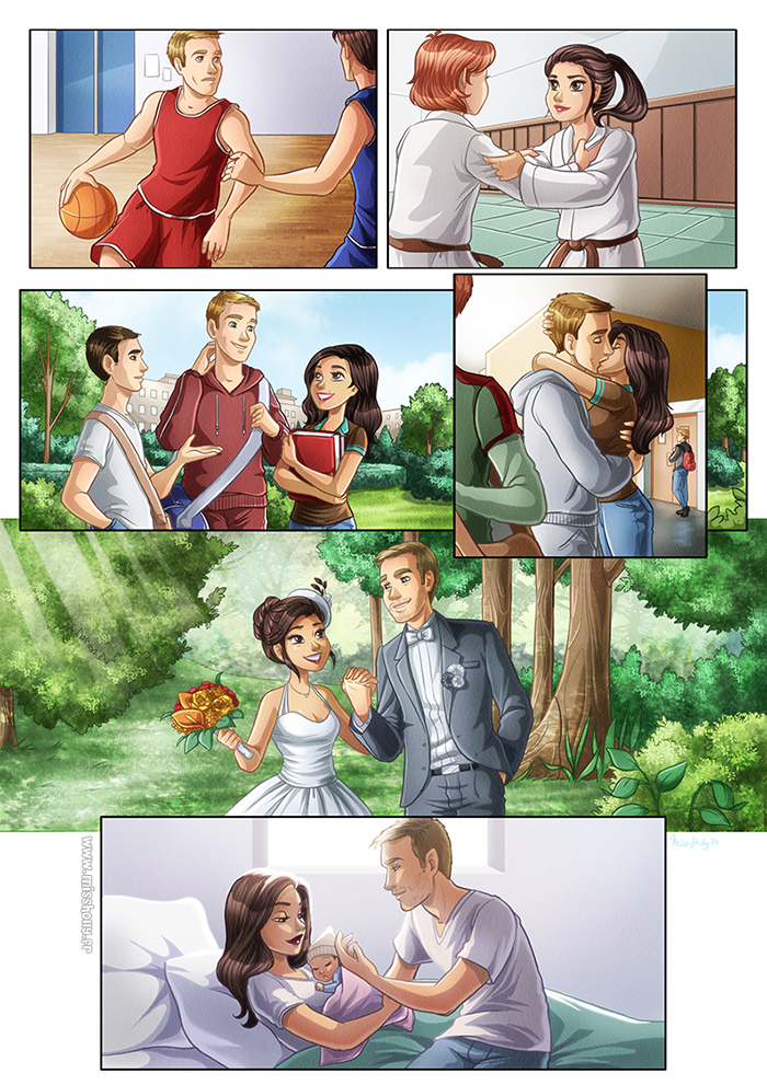 Love Story Comic By HollyBell On DeviantArt