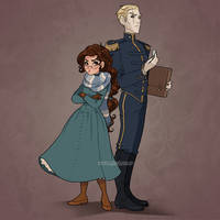 Ophelie and Thorn by HollyBell