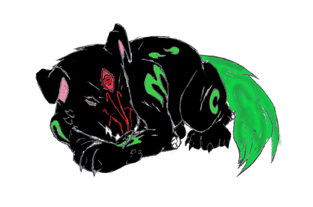 Hellhound Puppy by TheDevilsTrick
