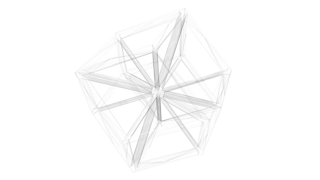 Dodecaedre Wireframe 1 by me7a
