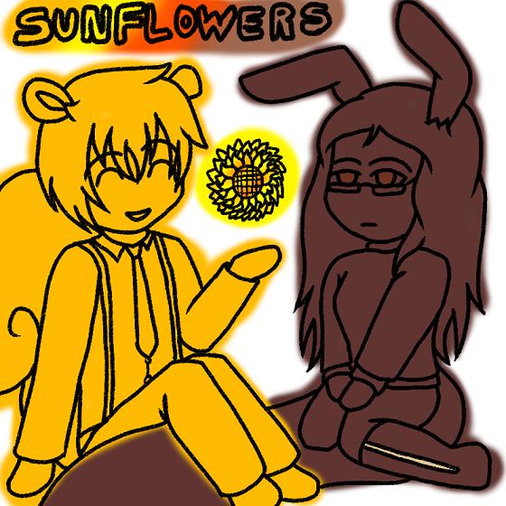 Sunflower Squirrels by forestchick501