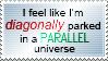 Diagonally Parked Stamp