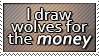I draw wolves for money by sugarpoultry