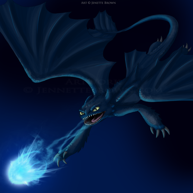 How To Train Your Dragon 2 Night Fury Blue