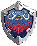 Pixel Hylian Shield (Skyward Sword) by sugarpoultry