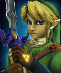 Twilight Princess Link Portrait by sugarpoultry