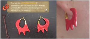 Skyward Sword Cosplay - Fire Shield Earrings