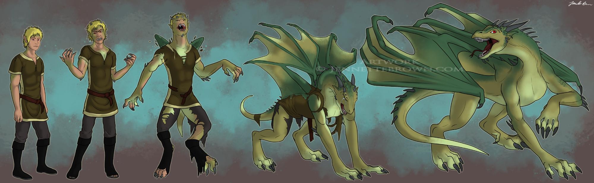 Трансформация человека в дракона картинки 2 фотография
