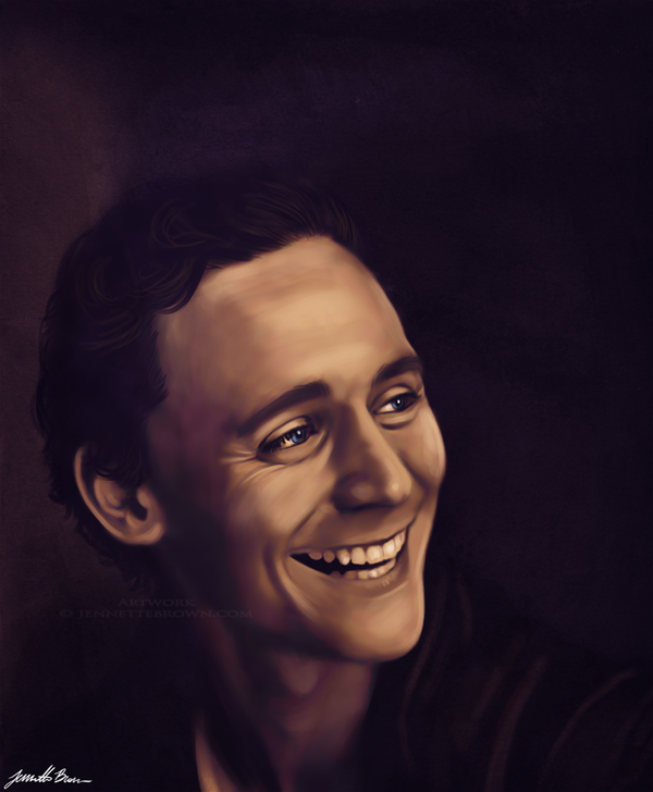 Tom Hiddleston by sugarpoultry