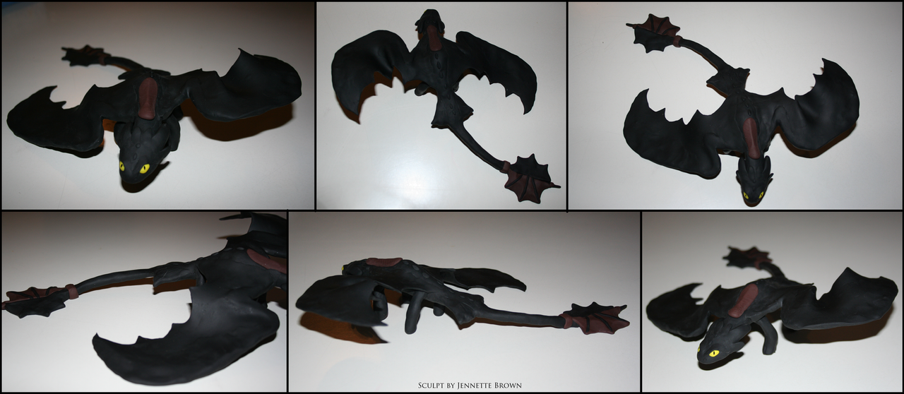 Toothless Sculpture by sugarpoultry