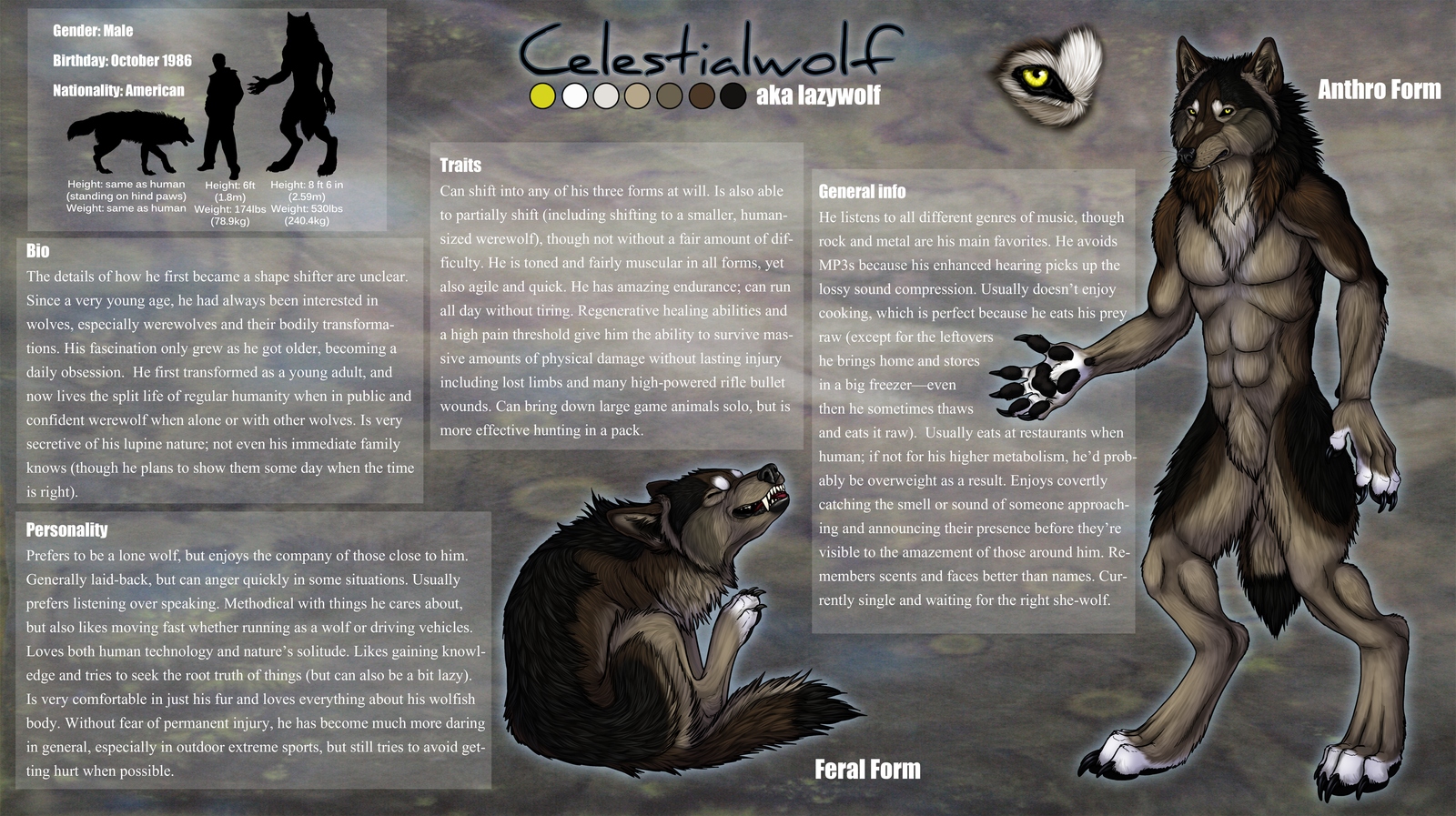 Celestialwolf Character Sheet by sugarpoultry