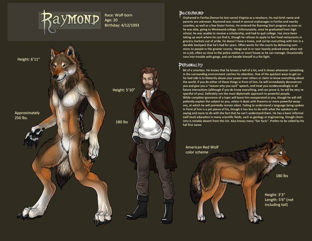 Raymond Character Sheet by sugarpoultry