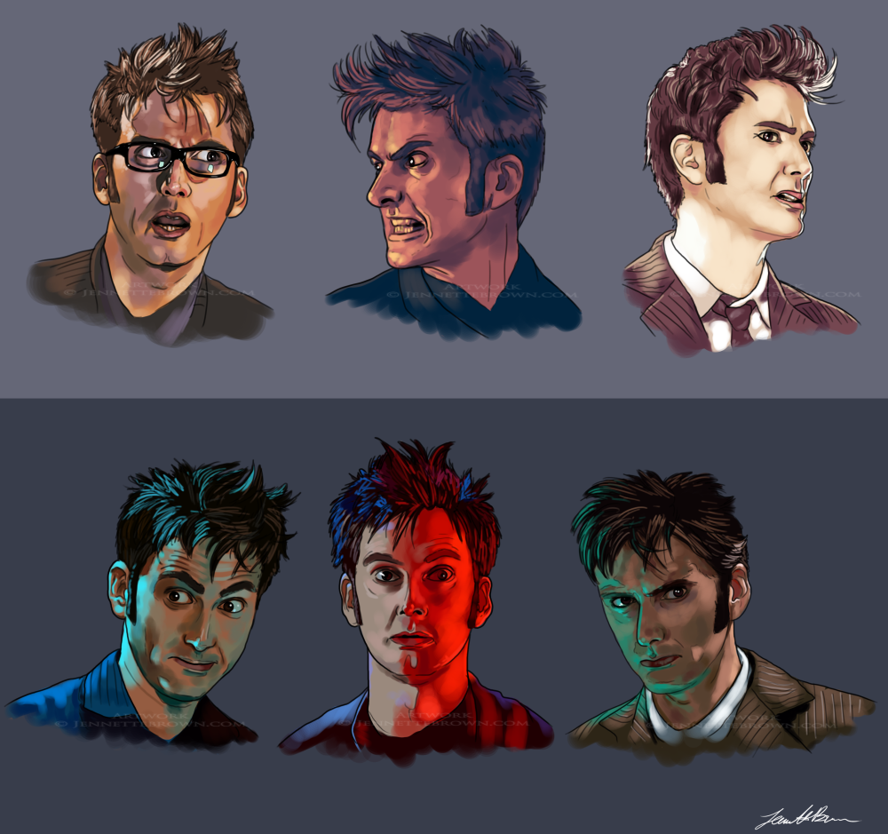 Faces of Ten I by sugarpoultry