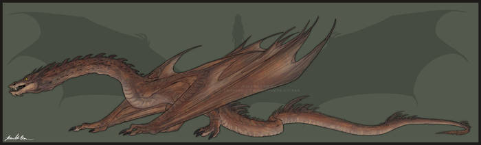 Smaug - Full Body Reference by sugarpoultry