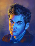 Doctor Who Tenth Doctor Portrait - Intense