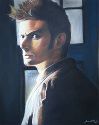 Tenth Doctor Pastel Drawing
