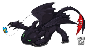 Toothless and the Butterfly