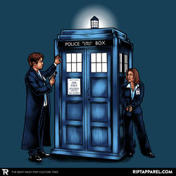 The Agents have the Phone Box - Doctor Who/X-files