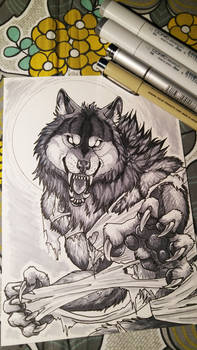 Snarly Werewolf - Copic Markers