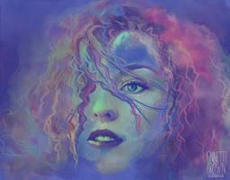 Aqua Lady by sugarpoultry
