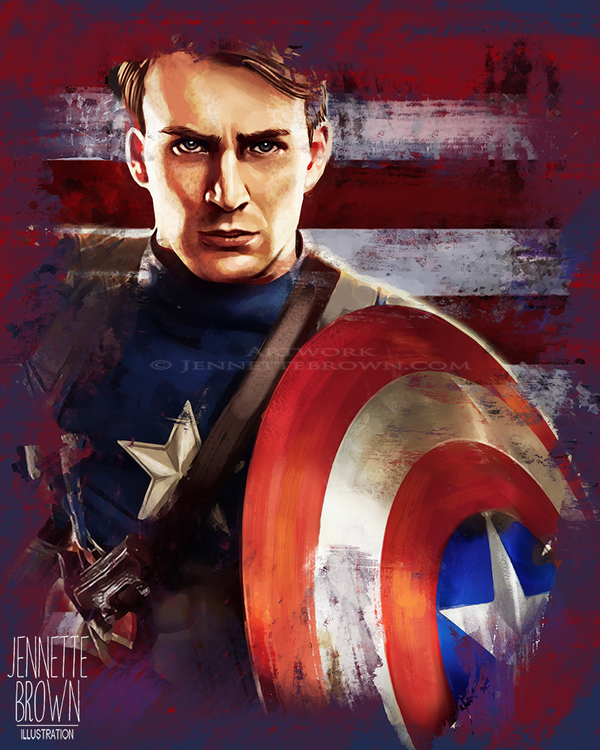 Captain America by sugarpoultry