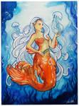 Jellyfish Mermaid - Watercolor Painting