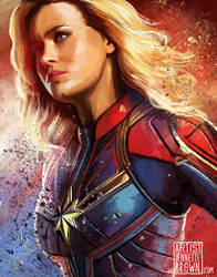 Captain Marvel by sugarpoultry
