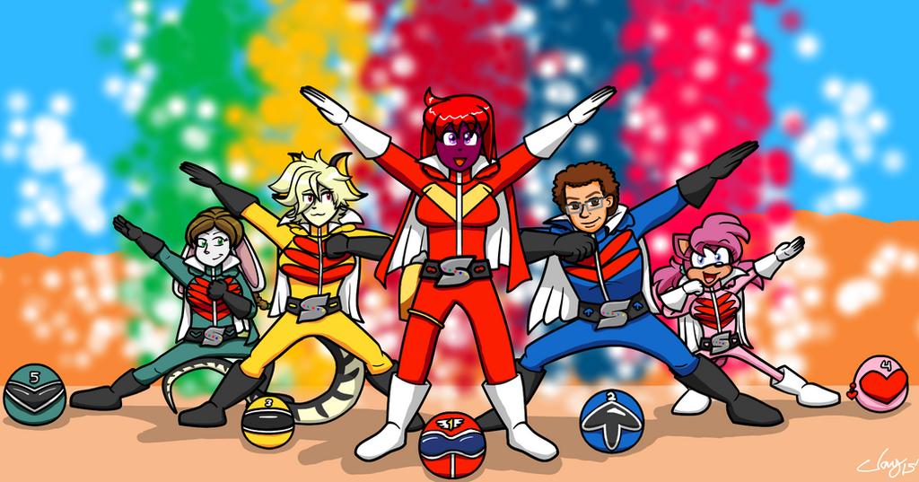 YCH: Himitsu Sentai Goranger by Captain-Marvelous