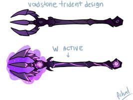 Voidstone Trident by BlazeMalefica
