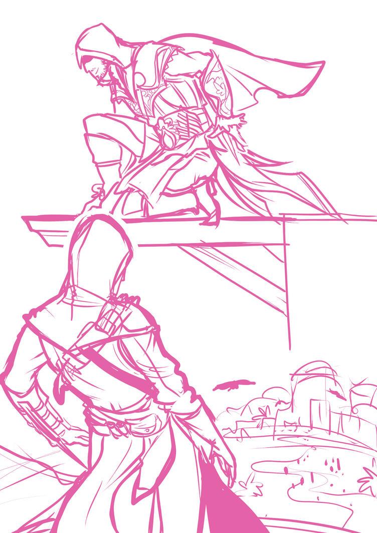 Ezio  Altair by Artsed