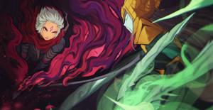 Commission  Irelia vs Riven by BlazeMalefica