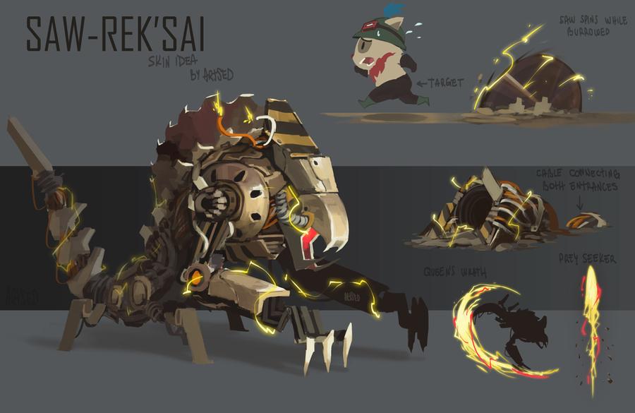 Saw RekSai Skin Idea By BlazeMalefica