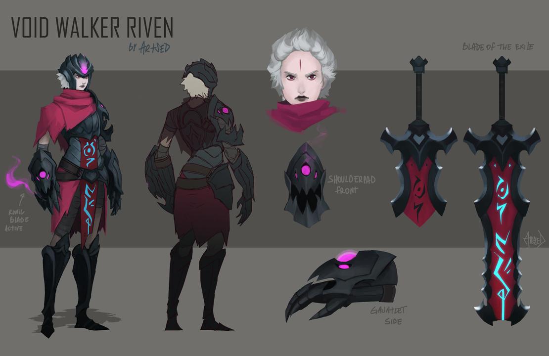 Voidwalker Riven skin idea by Artsed
