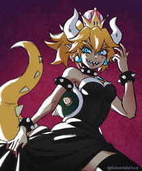 Bowsette by BlazeMalefica