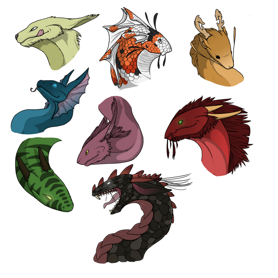 Dragon head adoptables CLOSED by SashaWren