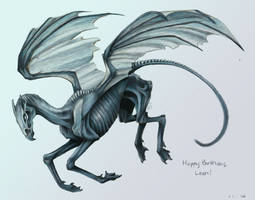 Leah's Thestral by SashaWren