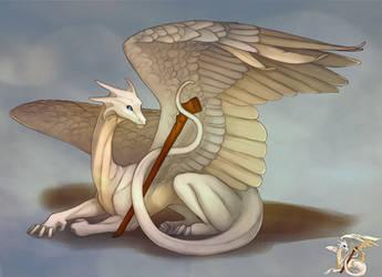 White Dragon by SashaWren